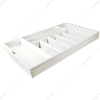 جای قاشق و چنگال چوبی رنگ سفید جهت یونیت عرض 60 فانتونی مدل O042