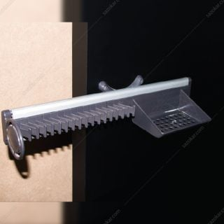 جای کمربند و کراوات دیواری ریلی سری 3 رنگ طوسی فانتونی مدل J154