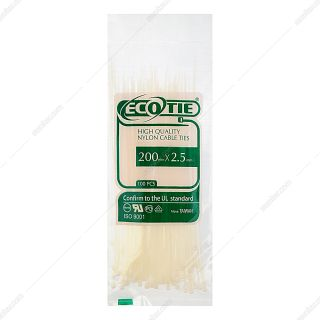 بست کمربندی سفید اکوتای مدل ES 76 بسته 100 عددی