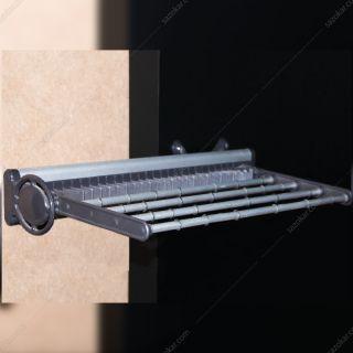 جای کمربند و کراوات دیواری ریلی سری 2 رنگ طوسی فانتونی مدل J153