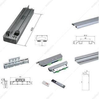 مکانیزم تاپ لاین ترکیبی برقی EW1 تک درب ساختمانی با عرض حداکثر 120 فانتونی مدل K090