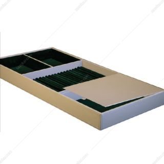 باکس زیور آلات چرم کامپکت داخل کشو سری 3 رنگ خاکی سایز 60 فانتونی مدل J648