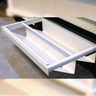 جاکفشی ریلی داخل کمد رنگ سفید طرح ایتالین سایز 60 فانتونی مدل J529
