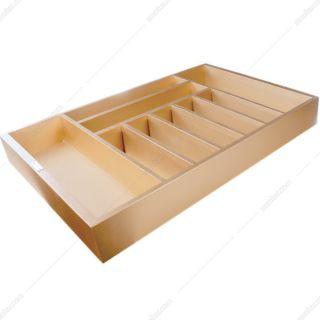 جای قاشق و چنگال چوبی رنگ طلایی جهت یونیت عرض 90 فانتونی مدل O073