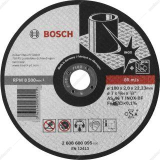 صفحه برش تخت استيل بوش  ابعاد 180×2×22.2 مدل 2608600095