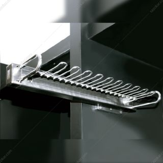 جای کمربند و کراوات ریلی داخل کمد لباس رنگ مشکی ABS بدون آرامبند فانتونی مدل J220