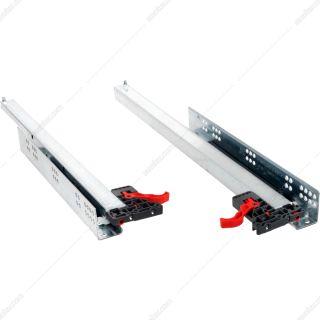 ریل اسمارت اسلاید آرامبند فول فشاری 60 سانتی متر به همراه براکت صامت مدل 127240238- یک جفت