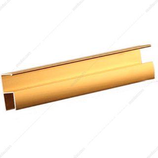 دستگیره پروفیلی H فرم 4.8 متری طلایی آنودایز فانتونی مدل L015